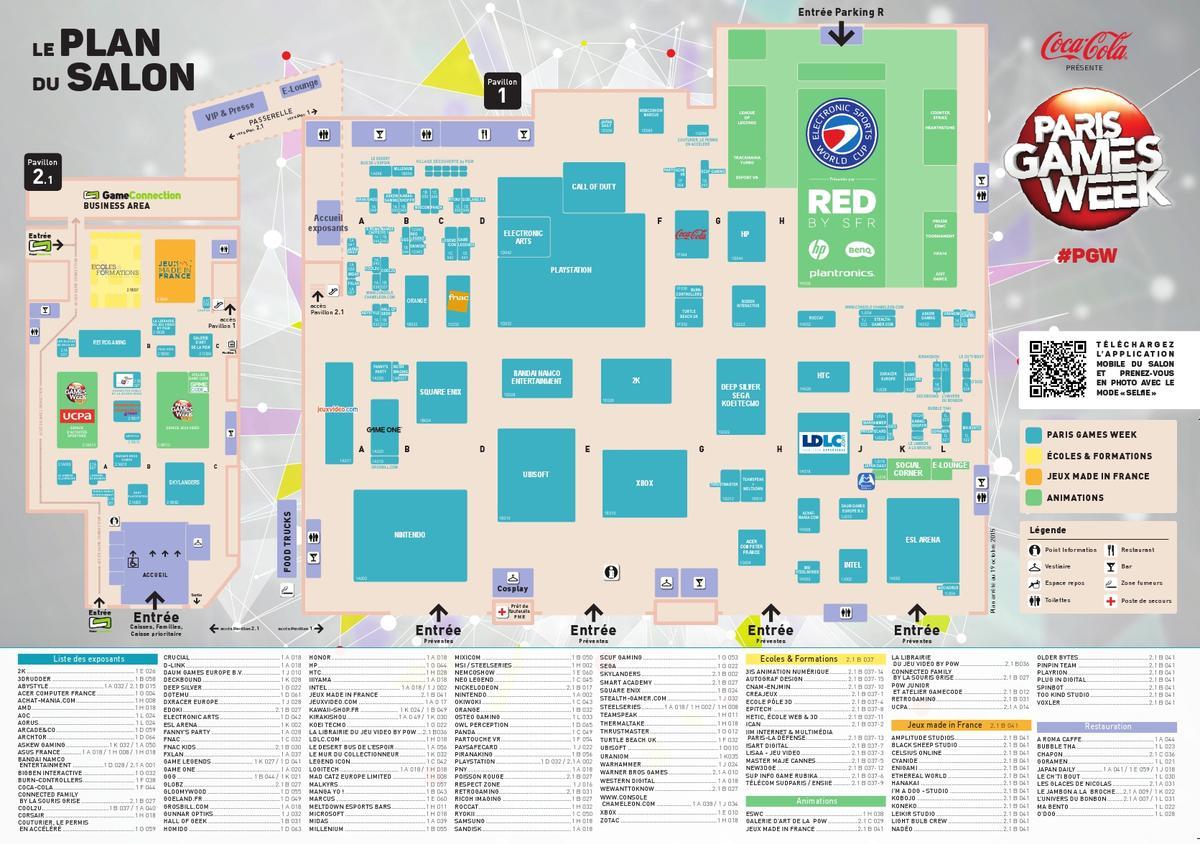 La paris games week ouvre ses portes - Plan parc expo porte de versailles ...