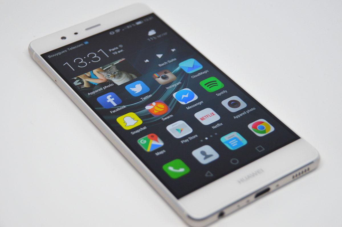 Le double test du huawei p9 le smartphone au double for Photo ecran huawei